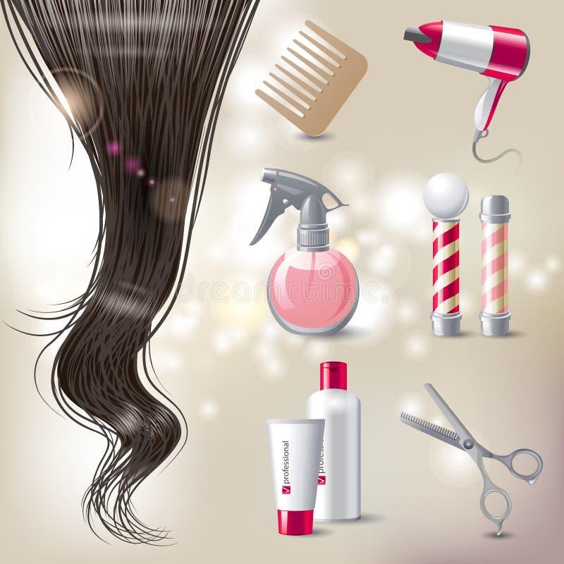 Cuidado de cabelo ilustração do vetor
