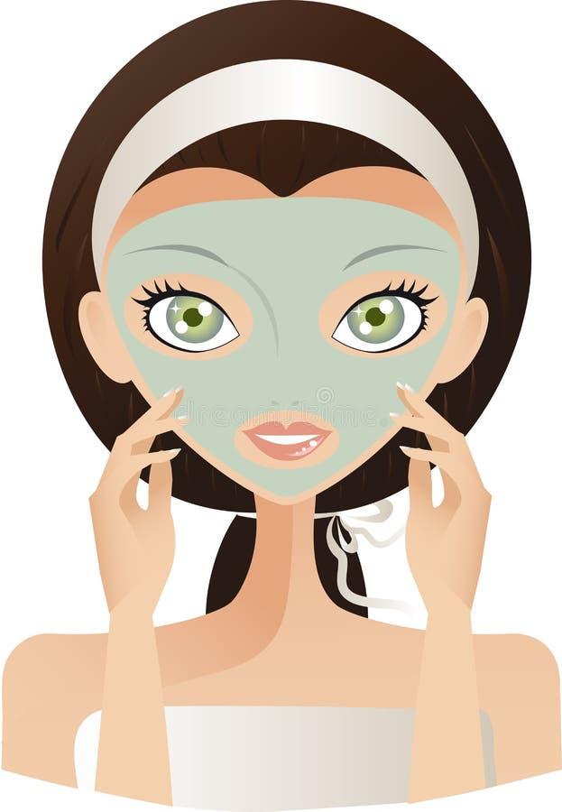 Cuidado de pele ilustração do vetor