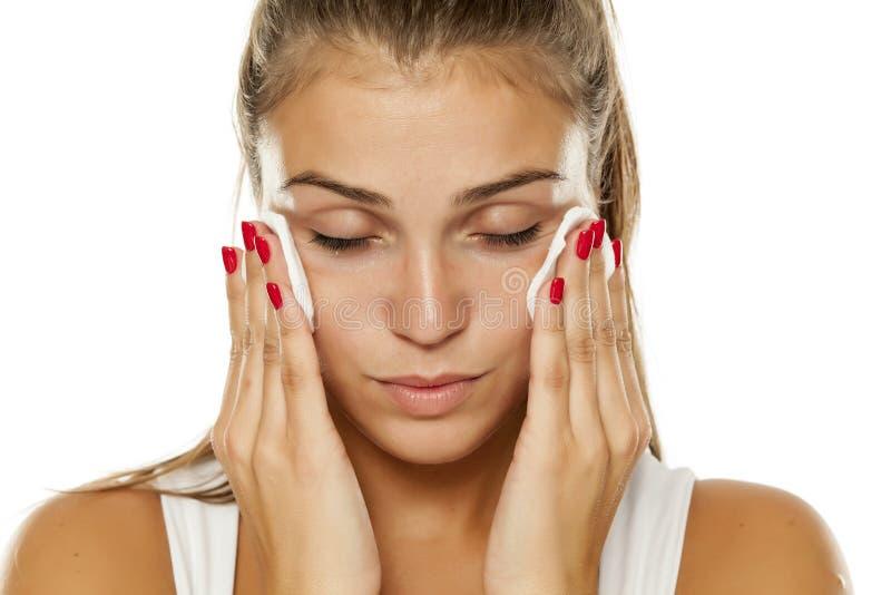 Cuidado de piel facial imágenes de archivo libres de regalías