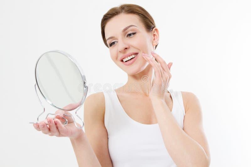 Cuidado de piel y concepto antienvejecedor belleza fotos de archivo