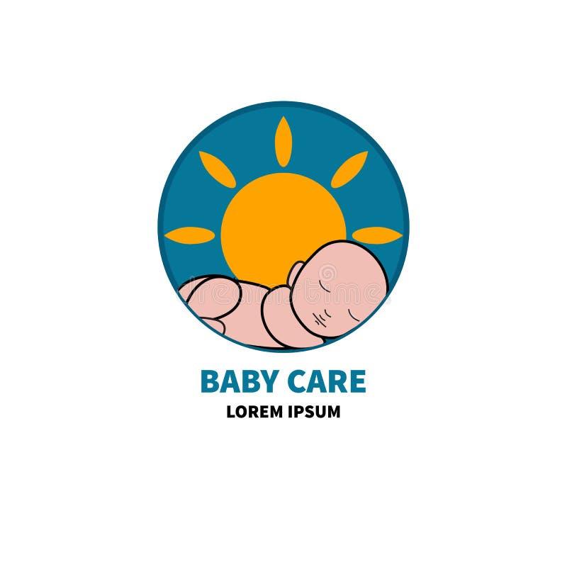 Cuidado del bebé del logotipo libre illustration