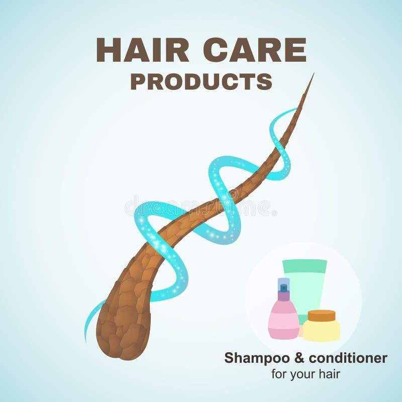 Cuidado del cabello stock de ilustración