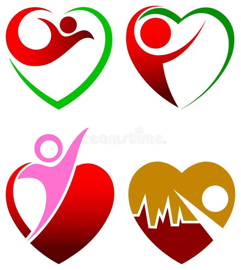 Cuidado del corazón stock de ilustración