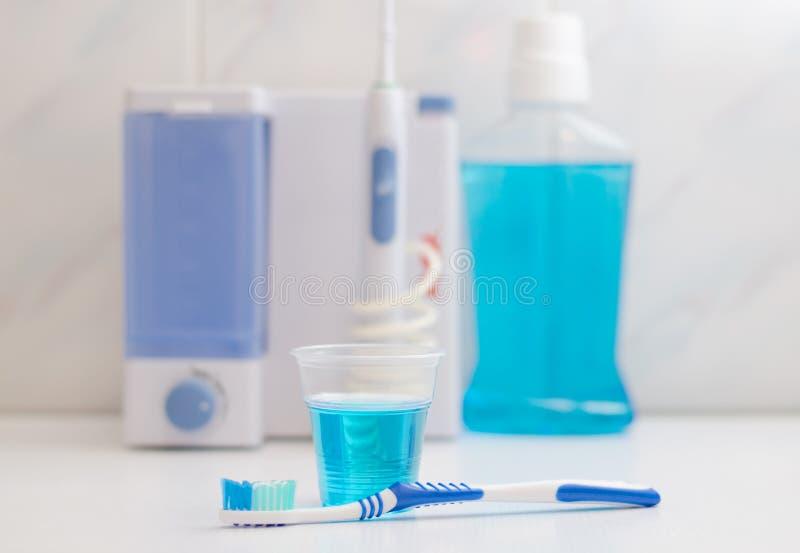 Cuidado del equipo dental Irrigator para la boca foto de archivo