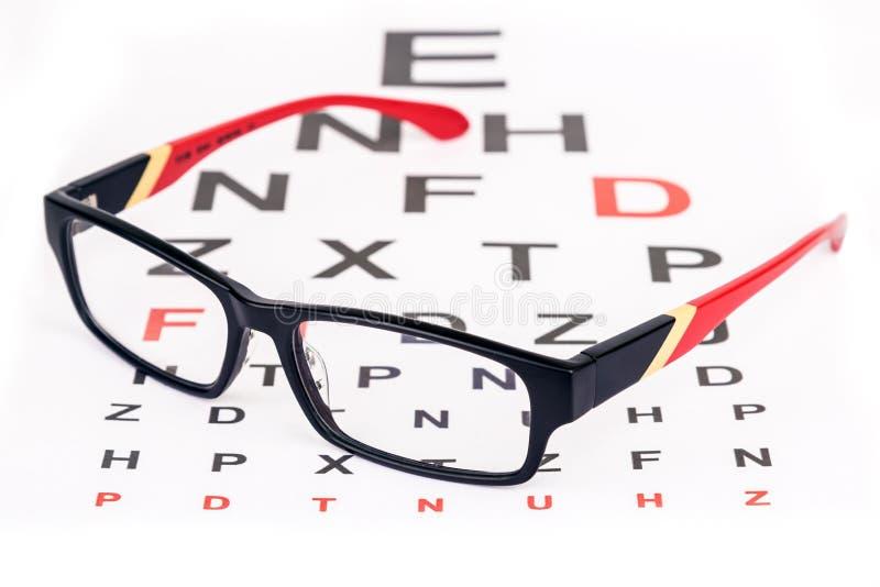 Cuidado del ojo con los vidrios imagen de archivo libre de regalías