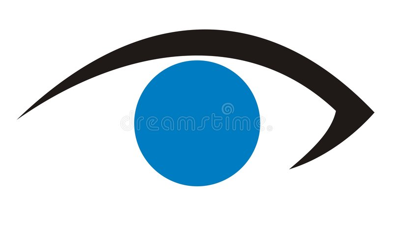 Cuidado del ojo/insignia 1 de la clínica ilustración del vector