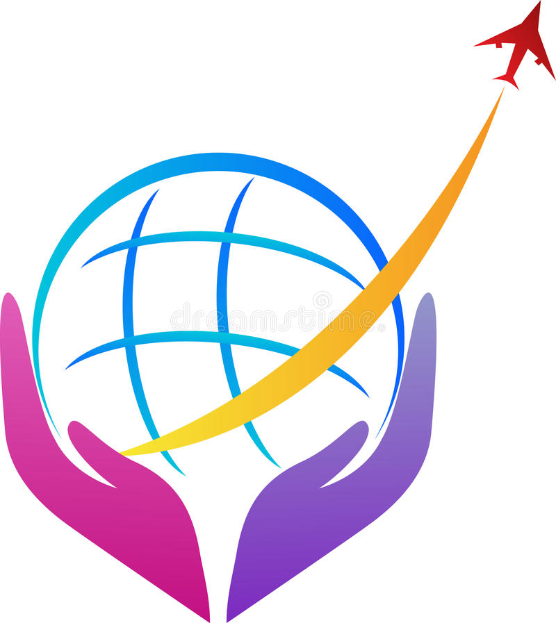 Cuidado del transporte aéreo stock de ilustración