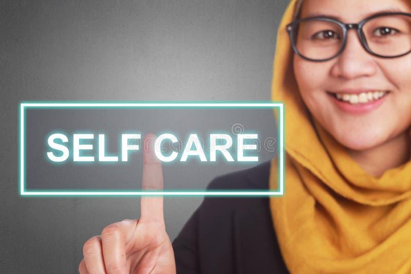 Cuidado del uno mismo, concepto de motivaci?n de las citas de las palabras libre illustration
