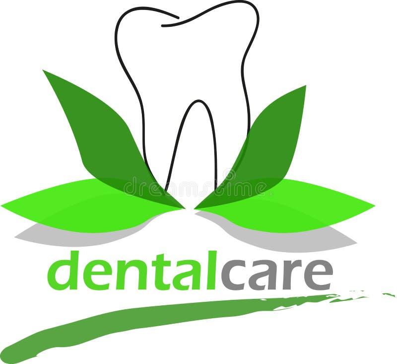 Cuidado dental con las hojas verdes naturales ilustración del vector