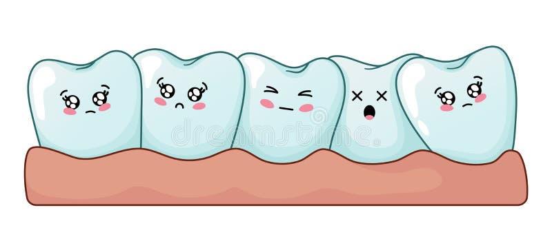 Cuidado dental de Kawaii libre illustration