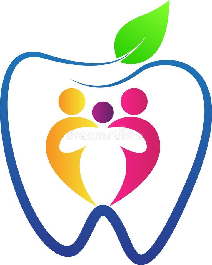 Cuidado dental de la familia stock de ilustración