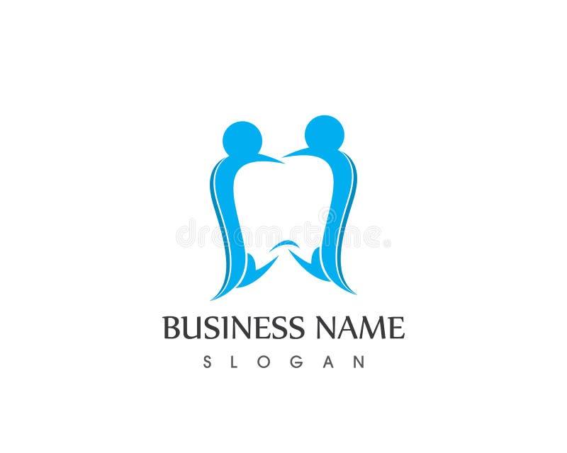 Cuidado dental Logo Design Template dos povos da saúde ilustração royalty free