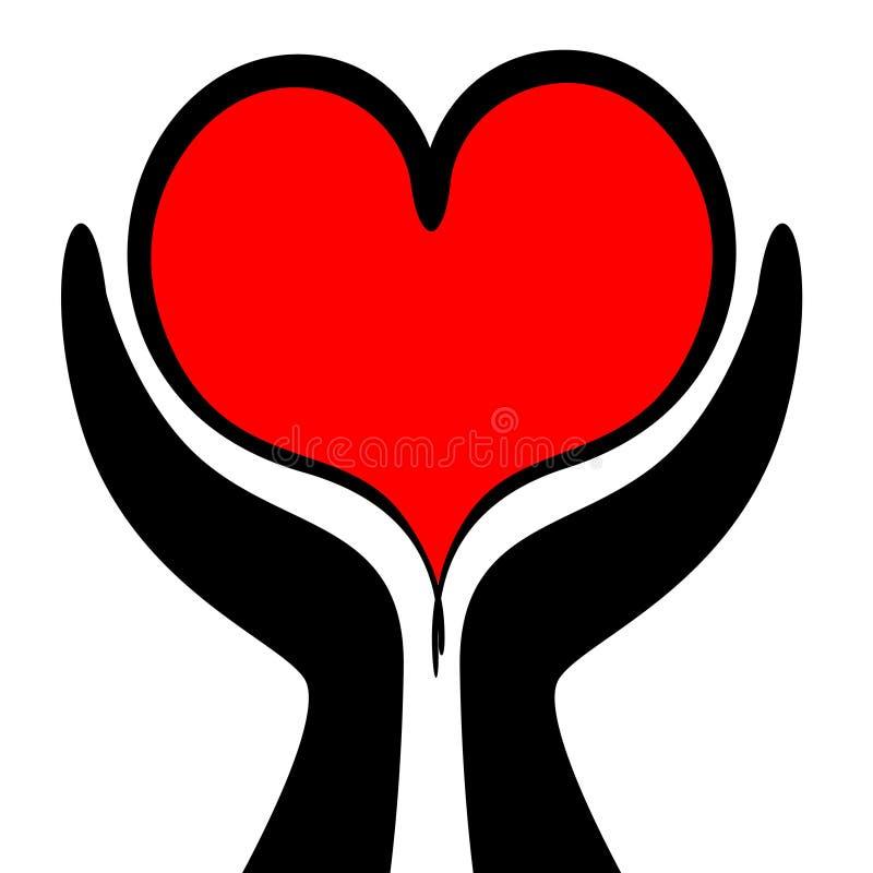Cuidado do coração ilustração royalty free