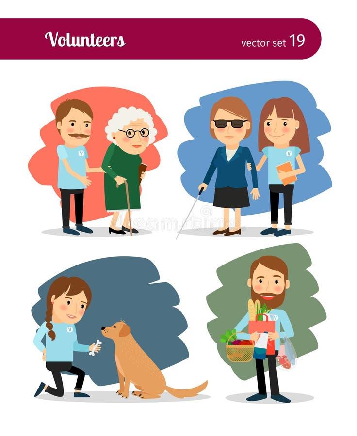 Cuidado dos voluntários ilustração stock