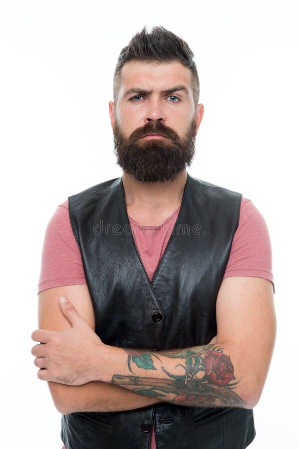 Cuidado facial Novo e brutal Cuidado masculino do barbeiro E Homem farpado Cuidado do cabelo e da barba Moderno maduro fotografia de stock royalty free