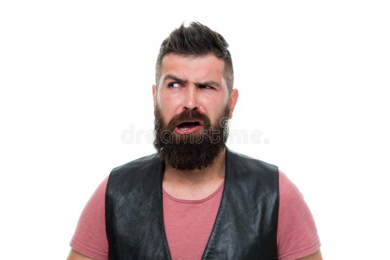 Cuidado facial Novo e brutal Cuidado masculino do barbeiro moderno irritado do homem Moderno maduro com barba Moderno caucasiano  fotografia de stock