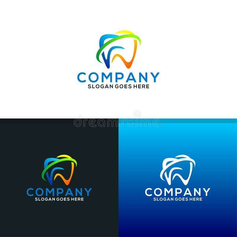 Cuidado Logo Design Template dental ilustração royalty free