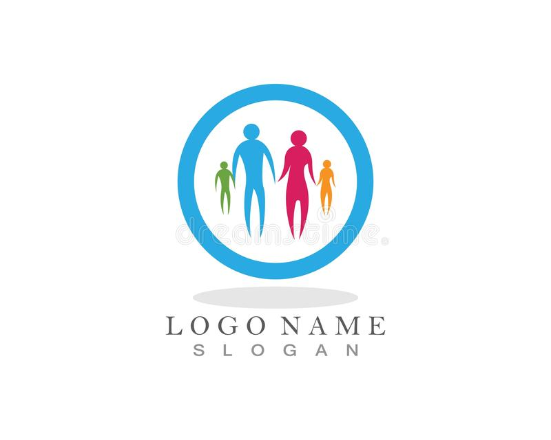 Cuidado Logo Icon de la familia ilustración del vector