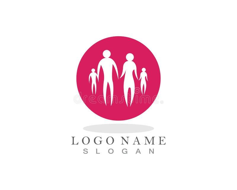 Cuidado Logo Icon de la familia stock de ilustración