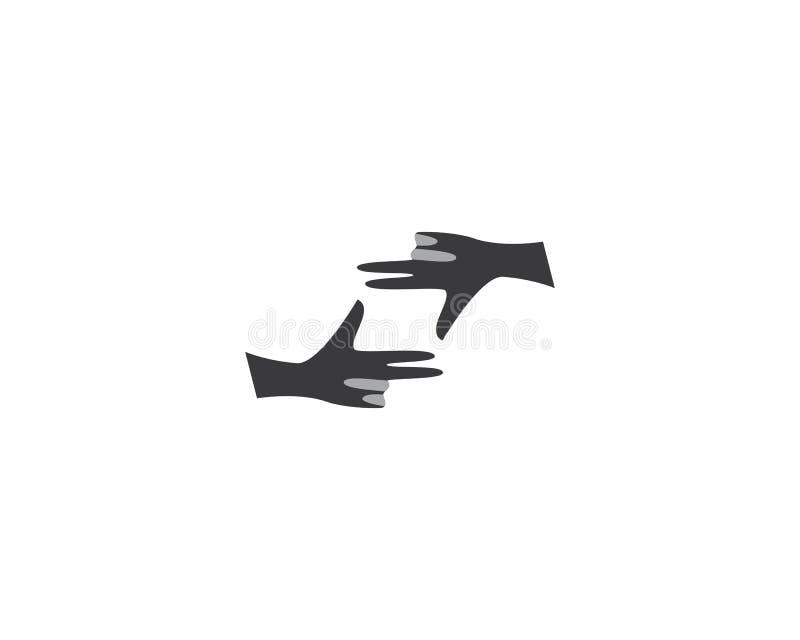 Cuidado Logo Template de la mano libre illustration