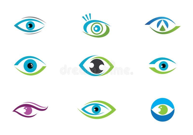 Cuidado Logo Template del ojo stock de ilustración