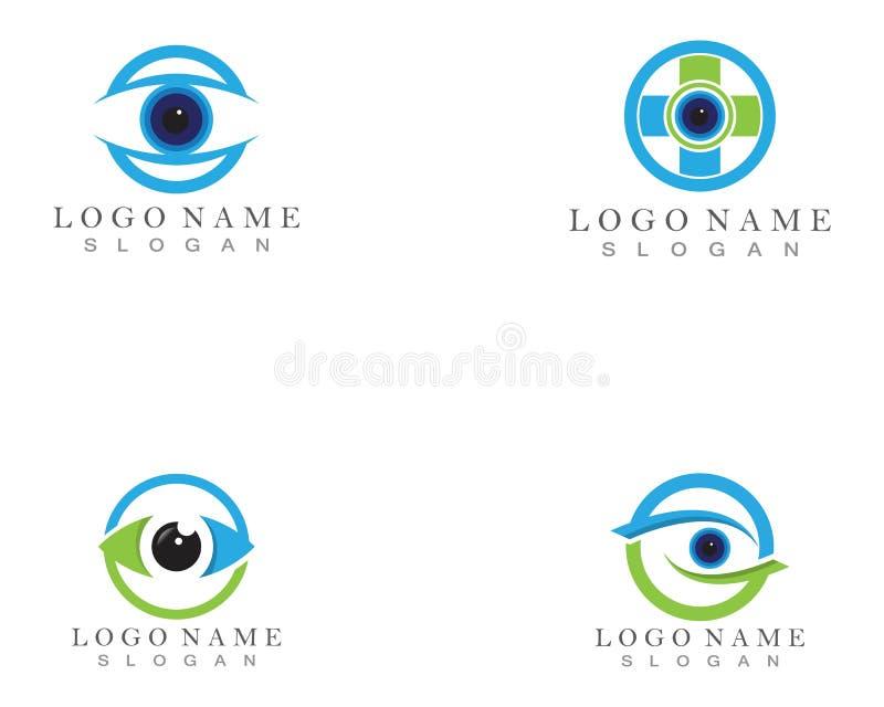 Cuidado Logo Template do olho ilustração do vetor