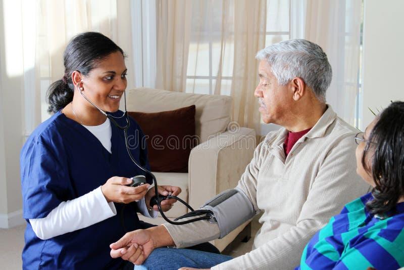 Cuidado médico casero imágenes de archivo libres de regalías