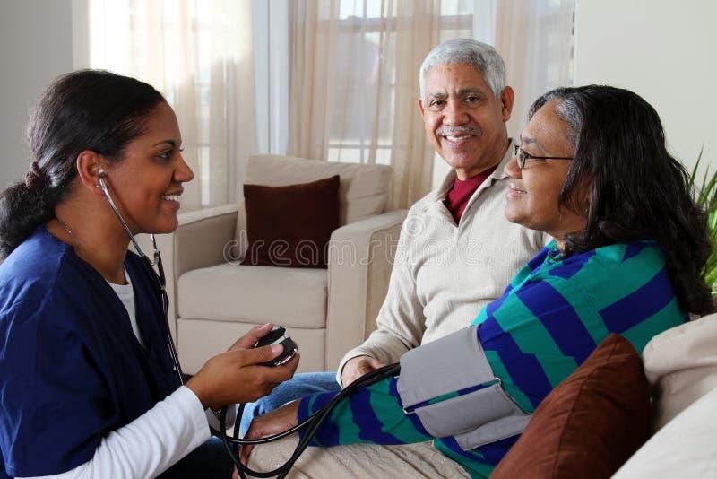 Cuidado médico casero imagen de archivo libre de regalías