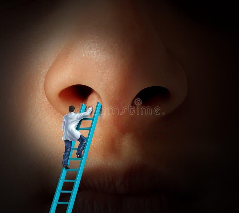 Cuidado médico de la nariz libre illustration