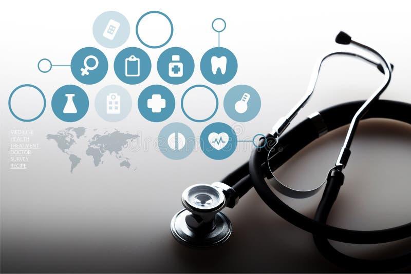 Cuidado médico y medicina stock de ilustración