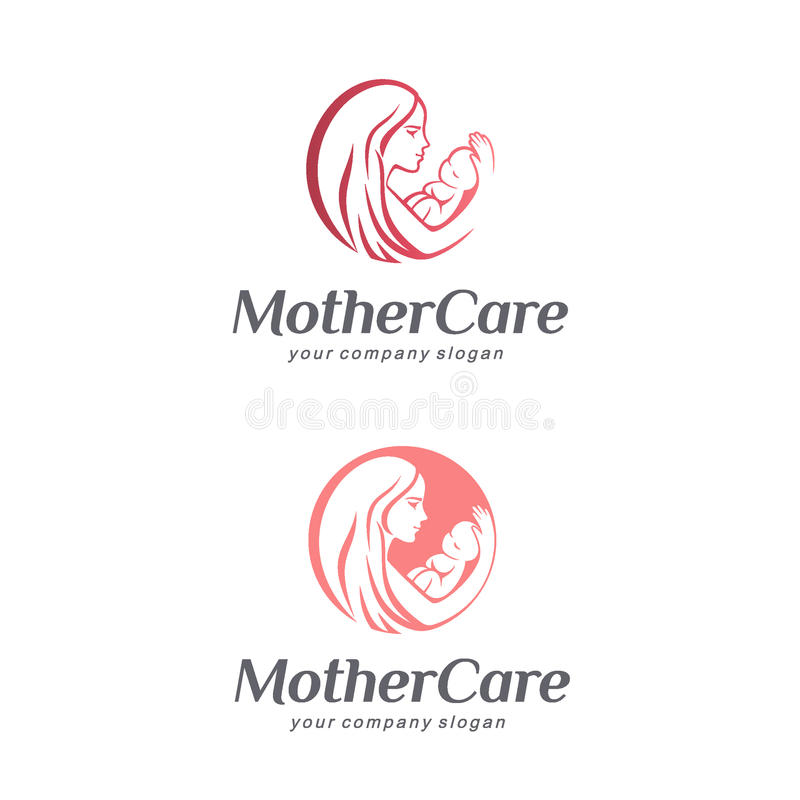 Cuidado, maternidad y maternidad del bebé Muestra de la madre libre illustration
