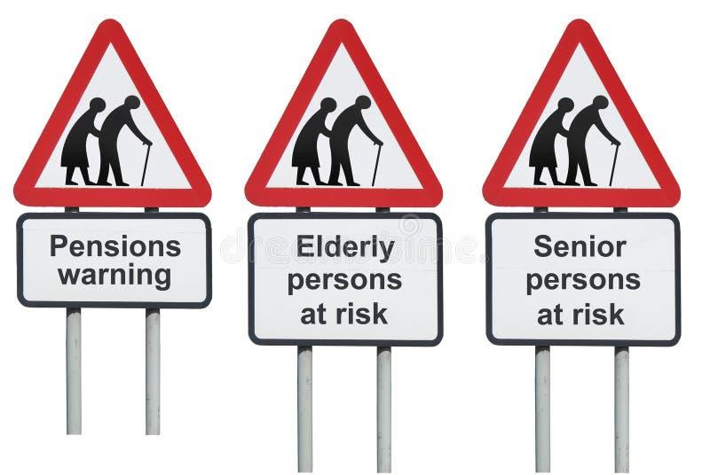 Cuidado mayor de las pensiones de los mayores fotos de archivo