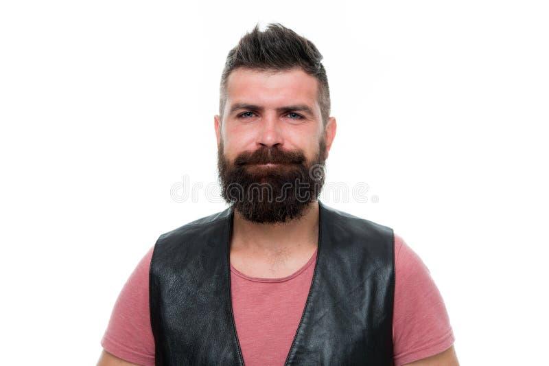 Cuidado pessoal Cuidado masculino do barbeiro moderno do homem da virada Moderno maduro com barba Homem farpado Cuidado do cabelo foto de stock royalty free
