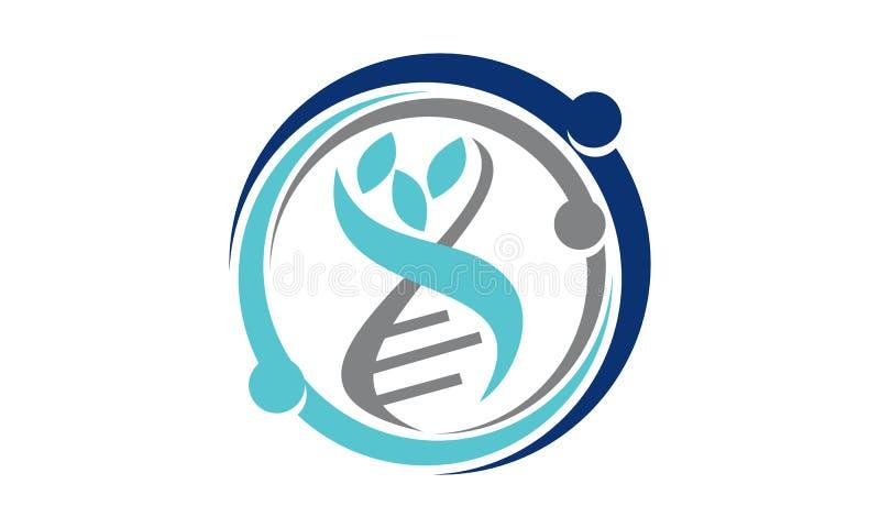 Cuidado sano genético stock de ilustración