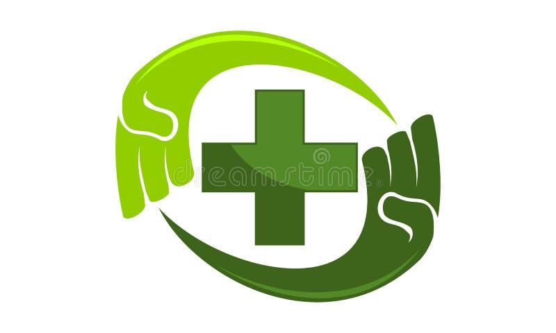Cuidado saudável da mão ilustração stock