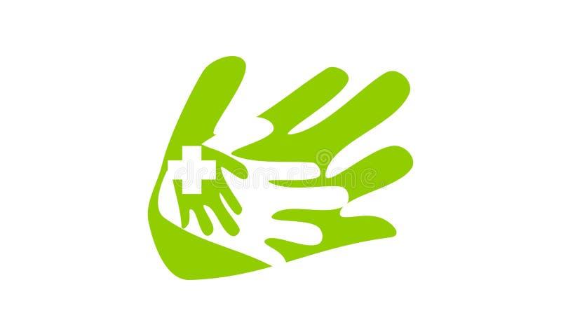Cuidado saudável da mão ilustração do vetor