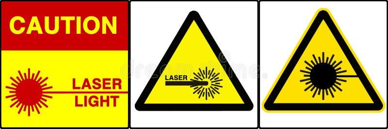 Cuidado/sinais de aviso ajustados, VII ilustração royalty free