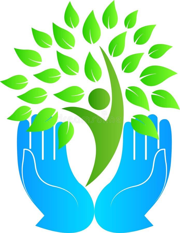 Cuidado verde ilustração do vetor