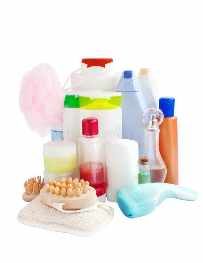 Cuidado y productos del cuarto de baño imagenes de archivo