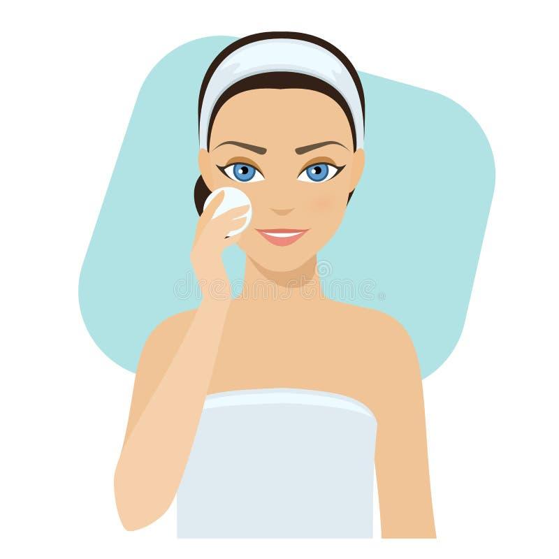 Cuidados com a pele - loção ilustração stock