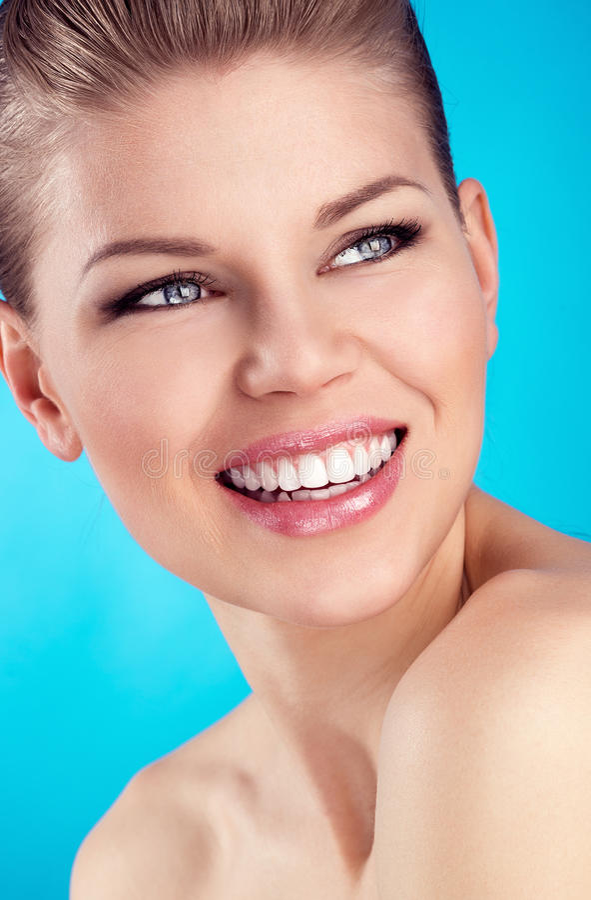 Cuidados dentários da mulher imagem de stock royalty free