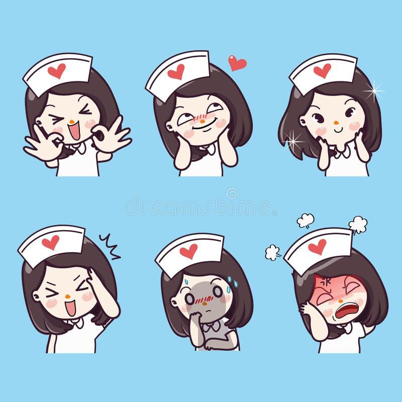 Cuidados emocionais e muitos gestos ilustração stock
