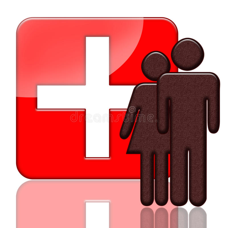 Cuidados médicos ilustração stock