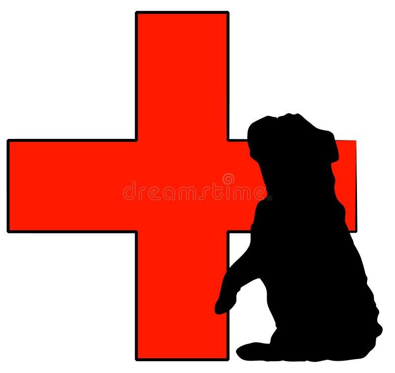 Cuidados médicos animais ilustração stock