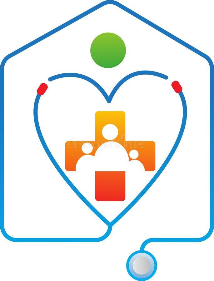 Cuidados médicos da família ilustração do vetor