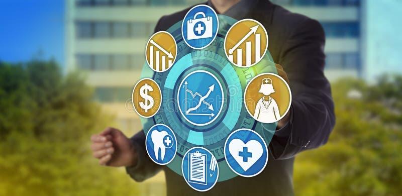 Cuidados médicos da qualidade de Planning For Higher do gerente foto de stock