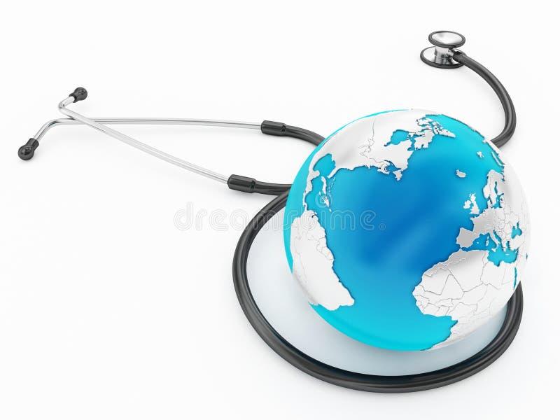 Cuidados médicos globais ilustração royalty free