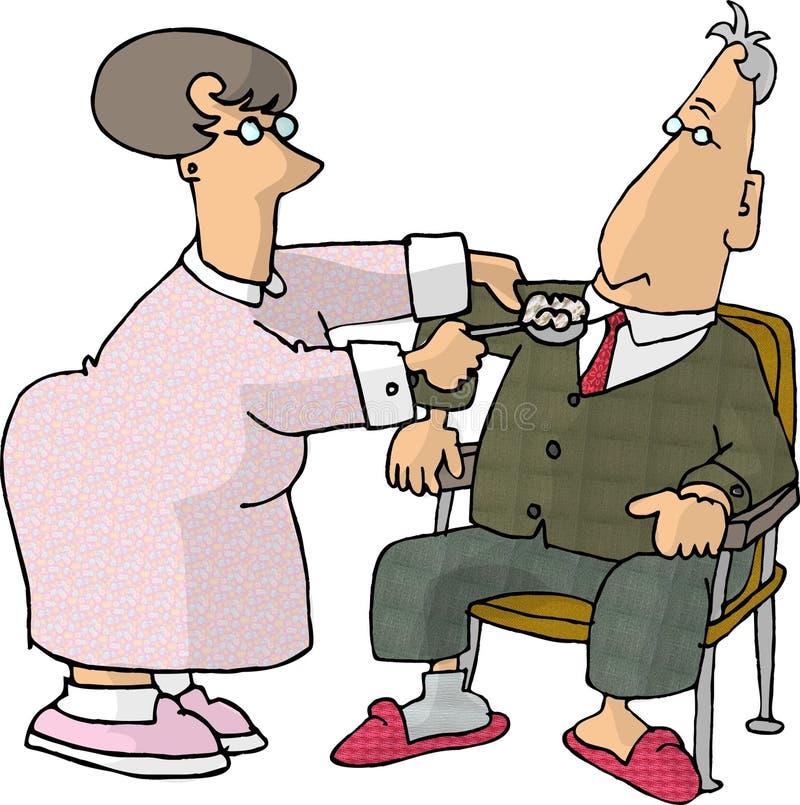 Cuidados médicos Home ilustração royalty free