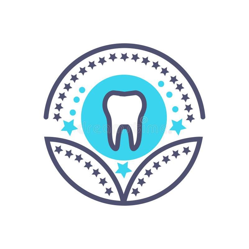 Cuidados m?dicos dentais ou sinal m?dico dos cuidados m?dicos do vetor do ?cone da concess?o ilustração stock