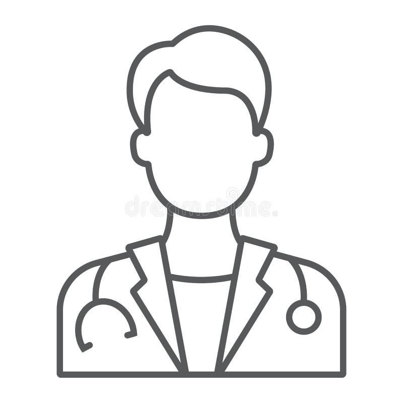 Cuide la línea fina icono, medicina y hospital libre illustration